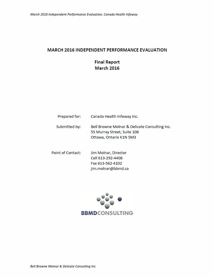 March 2016 Independent Performance Evaluation (Full Report