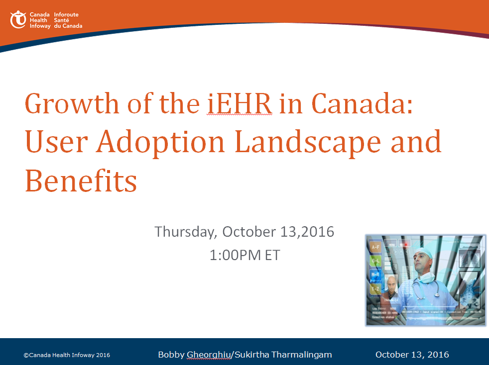 Growth Of The Iehr In Canada User Adoption Landscape And Benefits