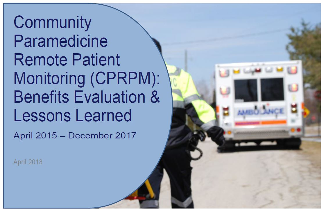 Community Paramedicine Remote Patient Monitoring (CPRPM